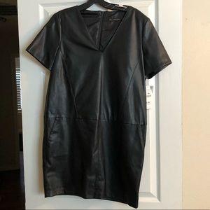 Zara faux leather dress - L